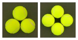 Esferas de tênis amarelas - 1 Fotos de Stock Royalty Free