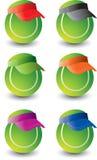 Esferas de tênis múltiplas Fotos de Stock Royalty Free