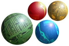 Esferas de Techno ilustração royalty free