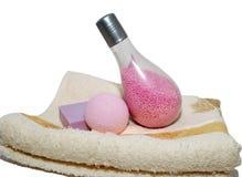 Esferas de toalha e de sabão Imagens de Stock