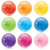 Esferas de vidro Imagens de Stock