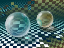 Esferas de vidro Fotografia de Stock Royalty Free