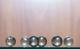 Esferas de vidro Fotografia de Stock