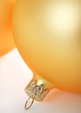 Esferas de vidro amarelas boas para o fundo Fotografia de Stock