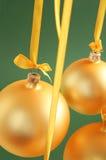 Esferas de vidro amarelas boas para o fundo Fotos de Stock