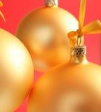 Esferas de vidro amarelas boas para o fundo Imagem de Stock