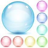 Esferas de vidro coloridos Imagens de Stock