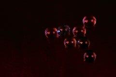 Esferas de vidro da apresentação futurista com olhos Fotografia de Stock Royalty Free