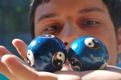 Esferas de Ying yang Fotos de Stock Royalty Free