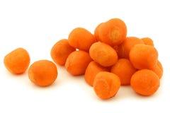 Esferas decorativas das cenouras do inverno foto de stock