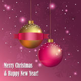 Esferas decorativas do Natal Fotografia de Stock