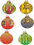 Esferas decorativas do Natal Imagens de Stock