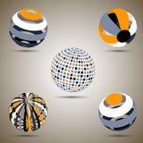 Esferas del color fijadas Foto de archivo