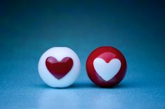 Esferas del corazón del amor Fotos de archivo libres de regalías