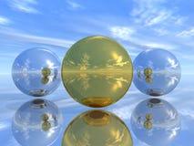 Esferas del espejo Imagen de archivo libre de regalías