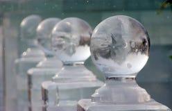 Esferas del hielo Imágenes de archivo libres de regalías