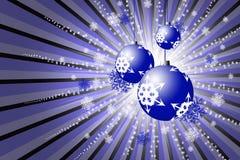 Esferas del rojo de la Navidad ilustración del vector
