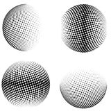 esferas del tono medio 3D Conjunto de elementos del diseño Imágenes de archivo libres de regalías