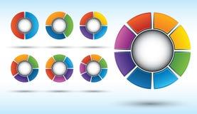 Esferas divididas en segmentos Imagen de archivo libre de regalías