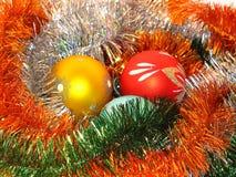 Esferas do ano novo Foto de Stock