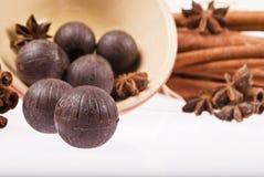Esferas do chocolate Imagens de Stock Royalty Free