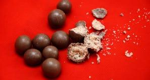 Esferas do chocolate Foto de Stock