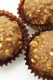 Esferas do chocolate e das porcas Fotografia de Stock Royalty Free