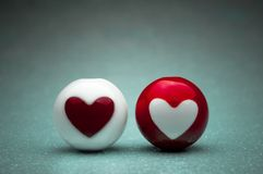 Esferas do coração do amor imagem de stock royalty free