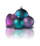 Esferas do coração e do Natal foto de stock