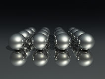 Esferas do cromo Foto de Stock