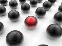 Esferas do enigma - influência vermelha ilustração do vetor