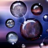 Esferas do espaço do Cyber Fotografia de Stock