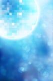 Esferas do espelho do disco no fundo azul Fotos de Stock
