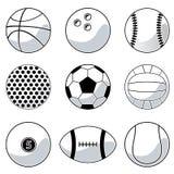 Esferas do esporte Fotografia de Stock