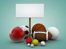 Esferas do esporte Fotografia de Stock Royalty Free