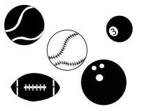 Esferas do esporte do vetor Foto de Stock