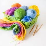 Esferas do fio colorido Vista de acima Todas as cores do ra Fotos de Stock