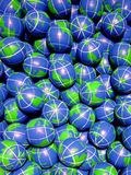 Esferas do globo imagens de stock royalty free