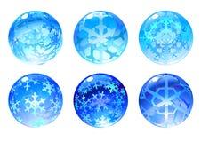 Esferas do inverno Imagens de Stock