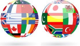 Esferas do mundo Imagens de Stock Royalty Free