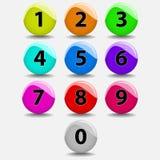 Esferas do número Imagens de Stock