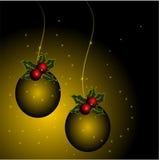 Esferas do Natal Foto de Stock