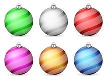 Esferas do Natal ilustração do vetor