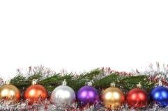 Esferas do Natal ajustadas Foto de Stock Royalty Free
