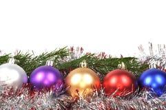 Esferas do Natal ajustadas Fotografia de Stock