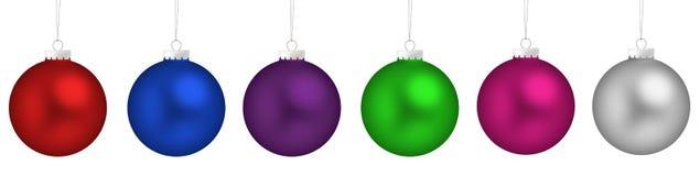 Esferas do Natal ajustadas Foto de Stock