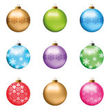 esferas do Natal ajustadas Fotos de Stock Royalty Free