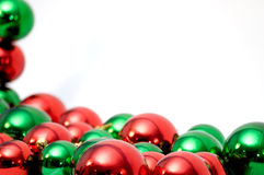 Esferas do Natal com copyspace Foto de Stock