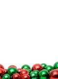 Esferas do Natal com copyspace Fotografia de Stock