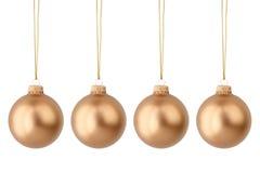 Esferas do Natal do ouro Imagens de Stock Royalty Free